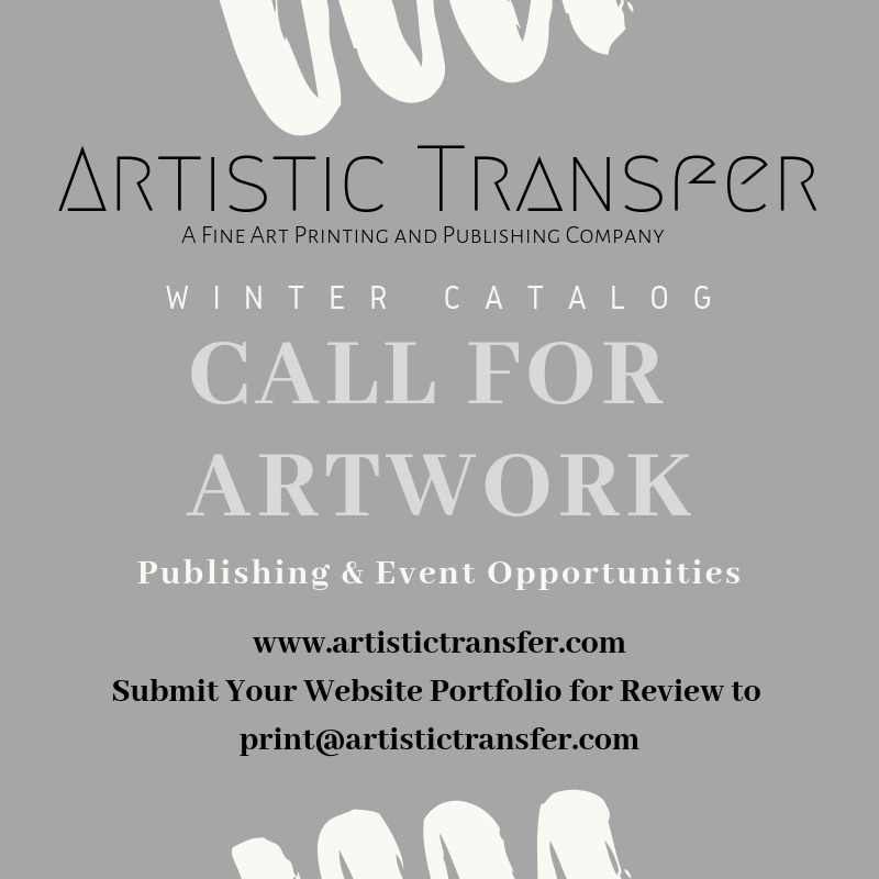 Artistic Transfer is looking for local artists to participate in our catalog and event opportunities. Join the Artistic Transfer family and expand your network of collectors!